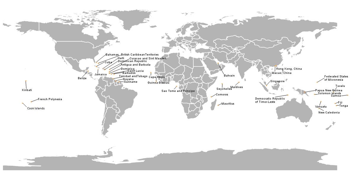 WMO SIDS Members Map
