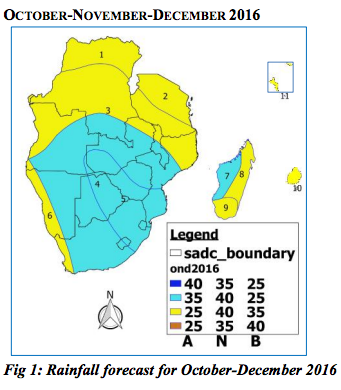 Southern Africa Climate Outlook Oct - Dec 2016
