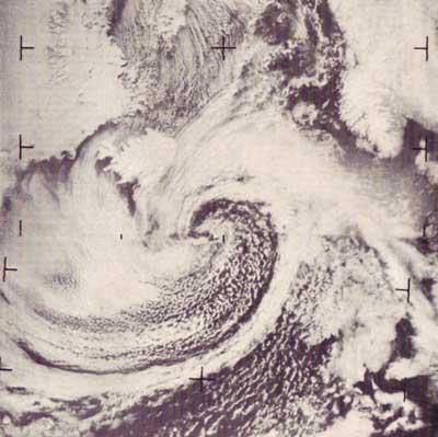 cyclone over North Atlantic