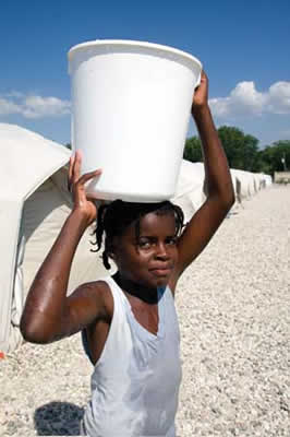 girl with bucket