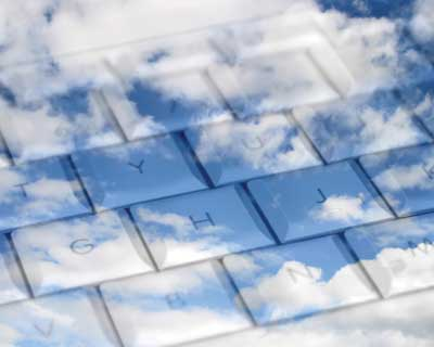 clouds on a keyboard