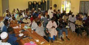 farmers at a seminar