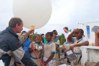weather balloon & kids