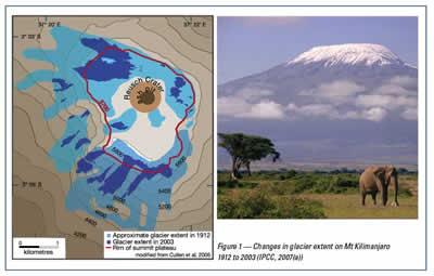 map & Kilimanjaro