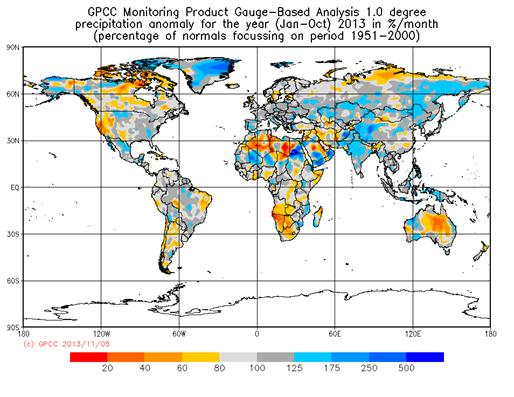 GPCC-Jan-Oct-2013-rel-anom