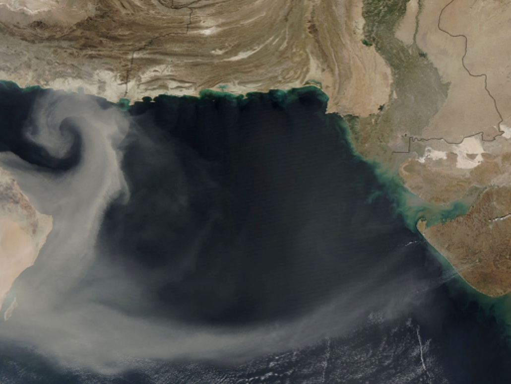 Dust plume coming off the Arabian Peninsula on 8 March 2015 at 08:45 UTC captured by the MODIS spectrometer on board the NASA's Aqua satellite  - See more at: http://www.wmo.int/bulletin/en/content/airborne-dust-hazard-human-health-environment-and-society