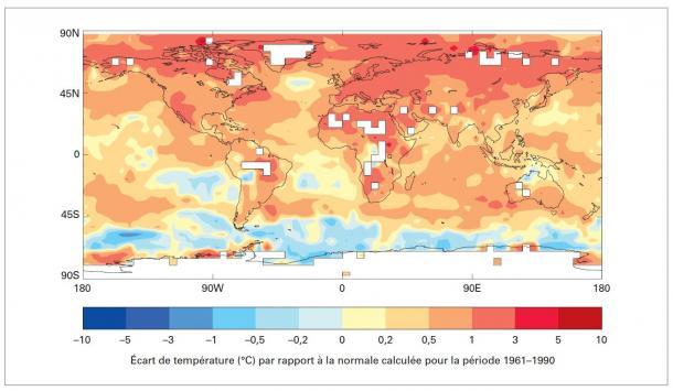 Le climat mondial 2011-2015: chaud et fantasque