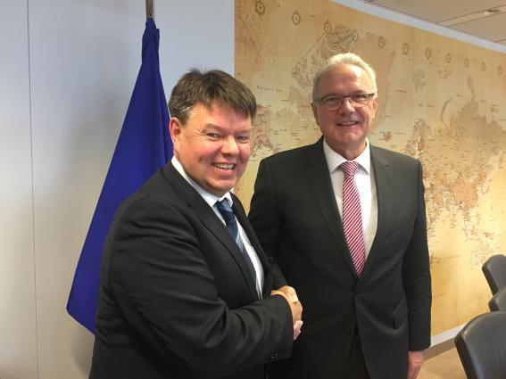 WMO's Taalas meets European Commissioner Mimica
