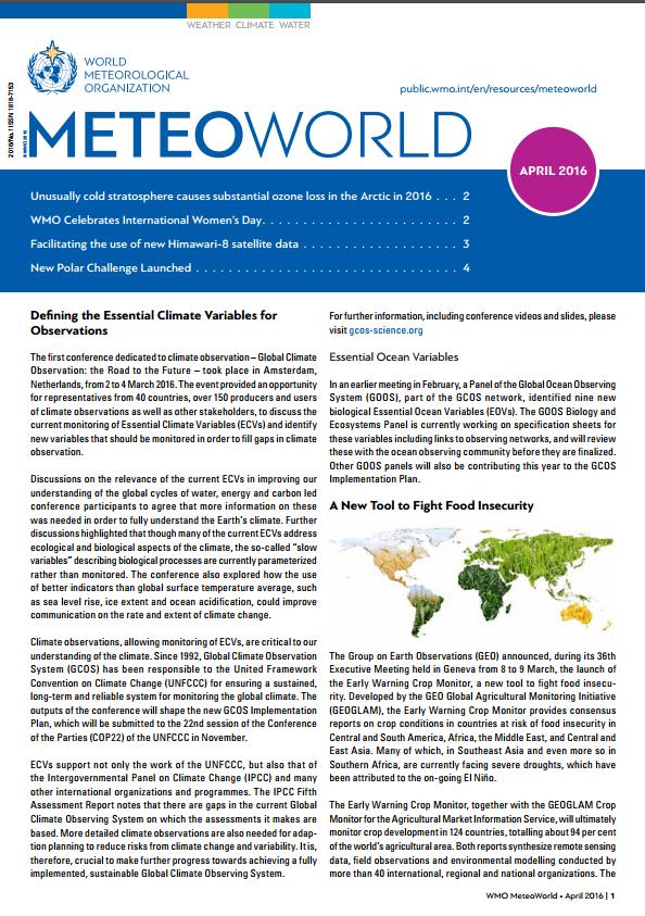 MeteoWorld April 2016