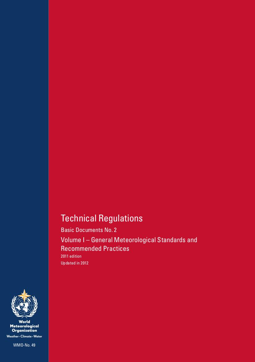 Technical Regulations / WMO