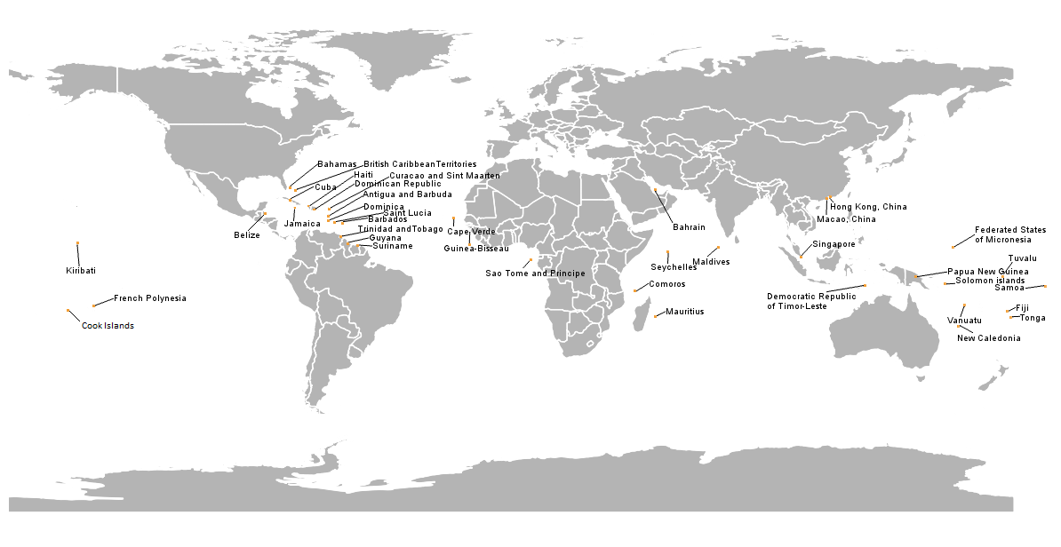 WMO SIDS Members Map