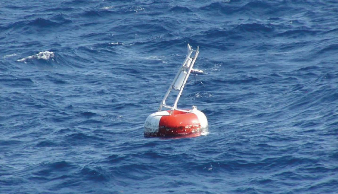 Damaged TAO buoy