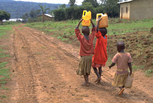 kids carry water