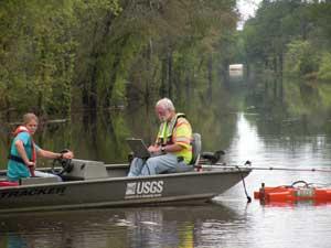 techicians in boat