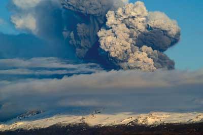 Icelandic Eyjafjallajokul volcano
