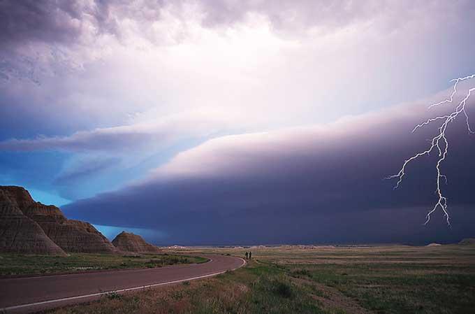 thunderstorm South Dakota, USA