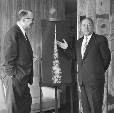 Dr H. Wexler (USA) and Academician  V. Bugaev (USSR)
