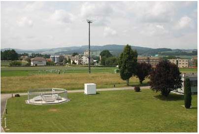 Profileur du vent doté de cinq panneaux à Payerne, Suisse