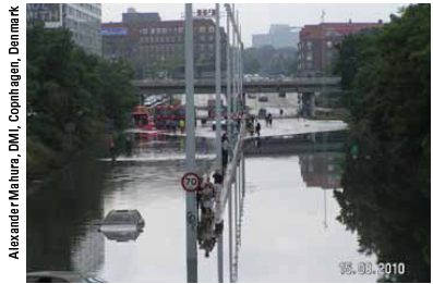 Urban flooding in August 2010 in Copenhagen