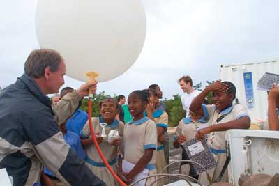 weather balloon & kids