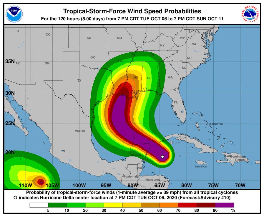 Hurricane Delta 7.10.2020