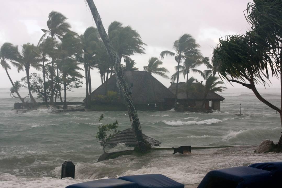 Flooding of resorts along the Coral Coast of Viti Levu, Fiji