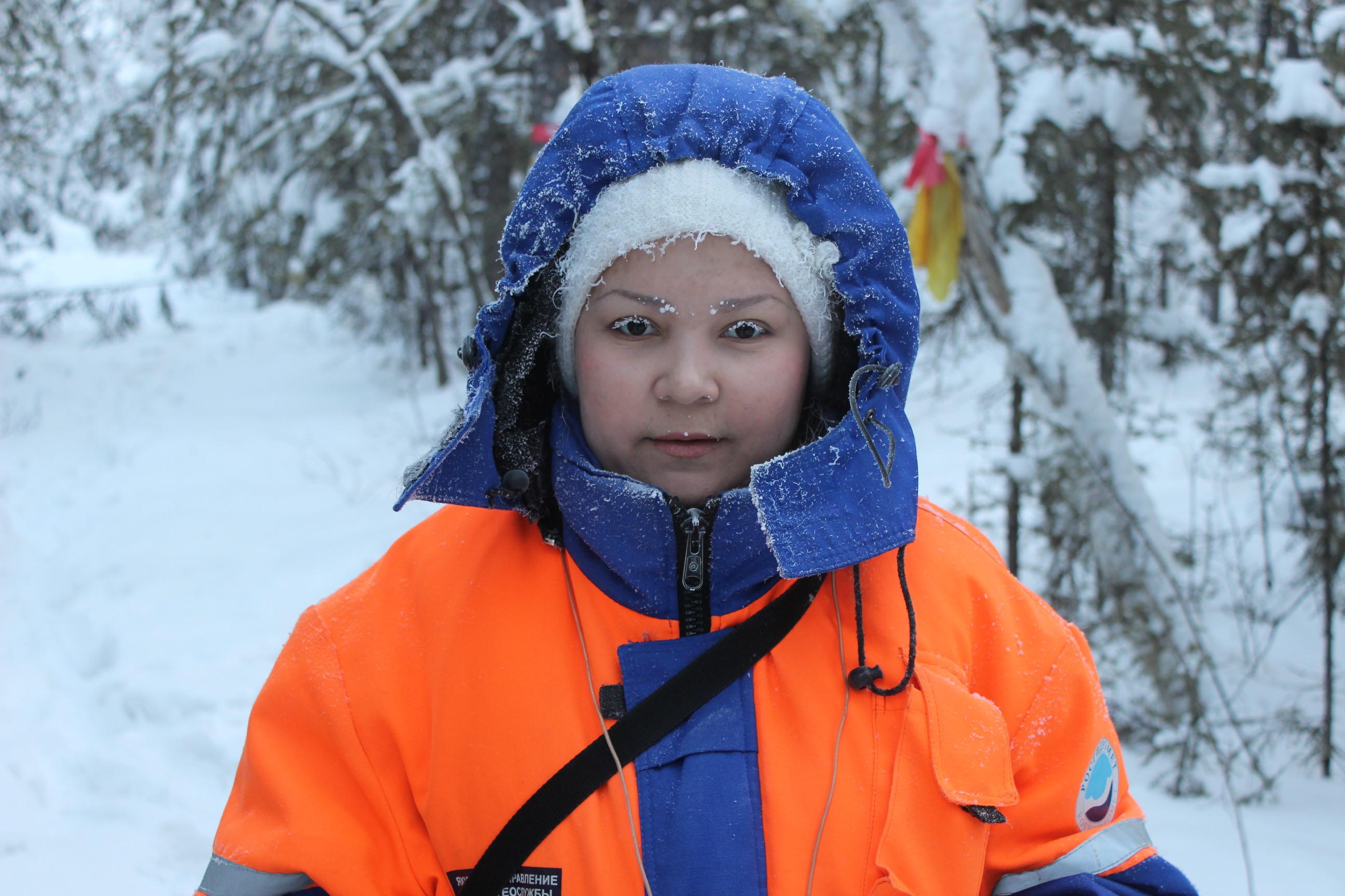 Meteorologist working in -50°C in Suntary, Yakutia, Russian Federation. Roshydromet.
