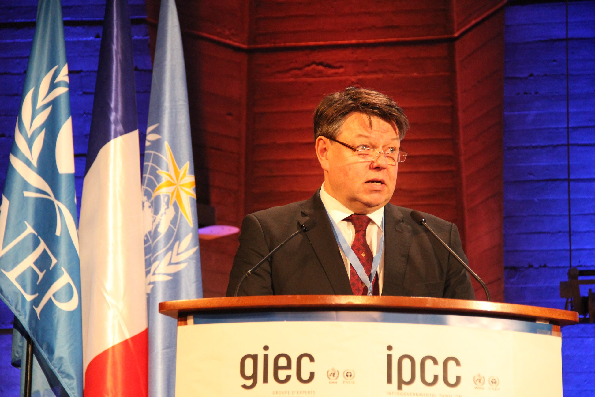 WMO SG Taalas at IPCC 30th anniversary session