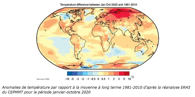 Anomalies de température