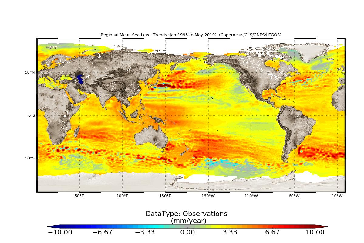Tendências regionais do nível médio do mar 2020
