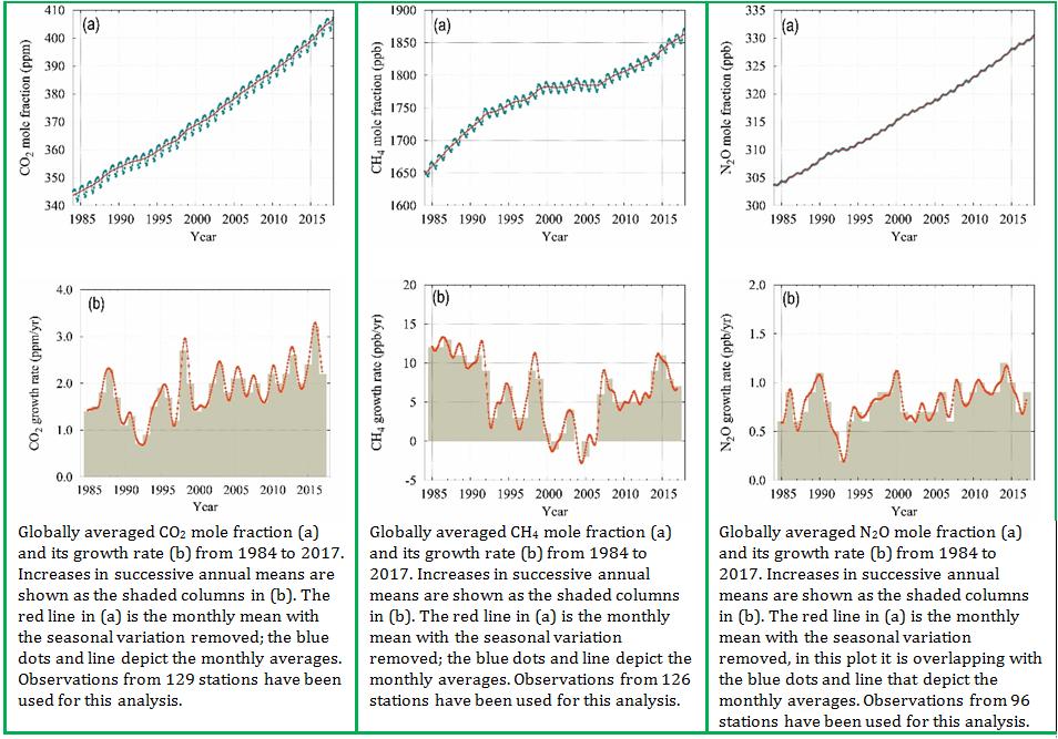 Níveis de gases do efeito estufa na atmosfera atingem novo recorde