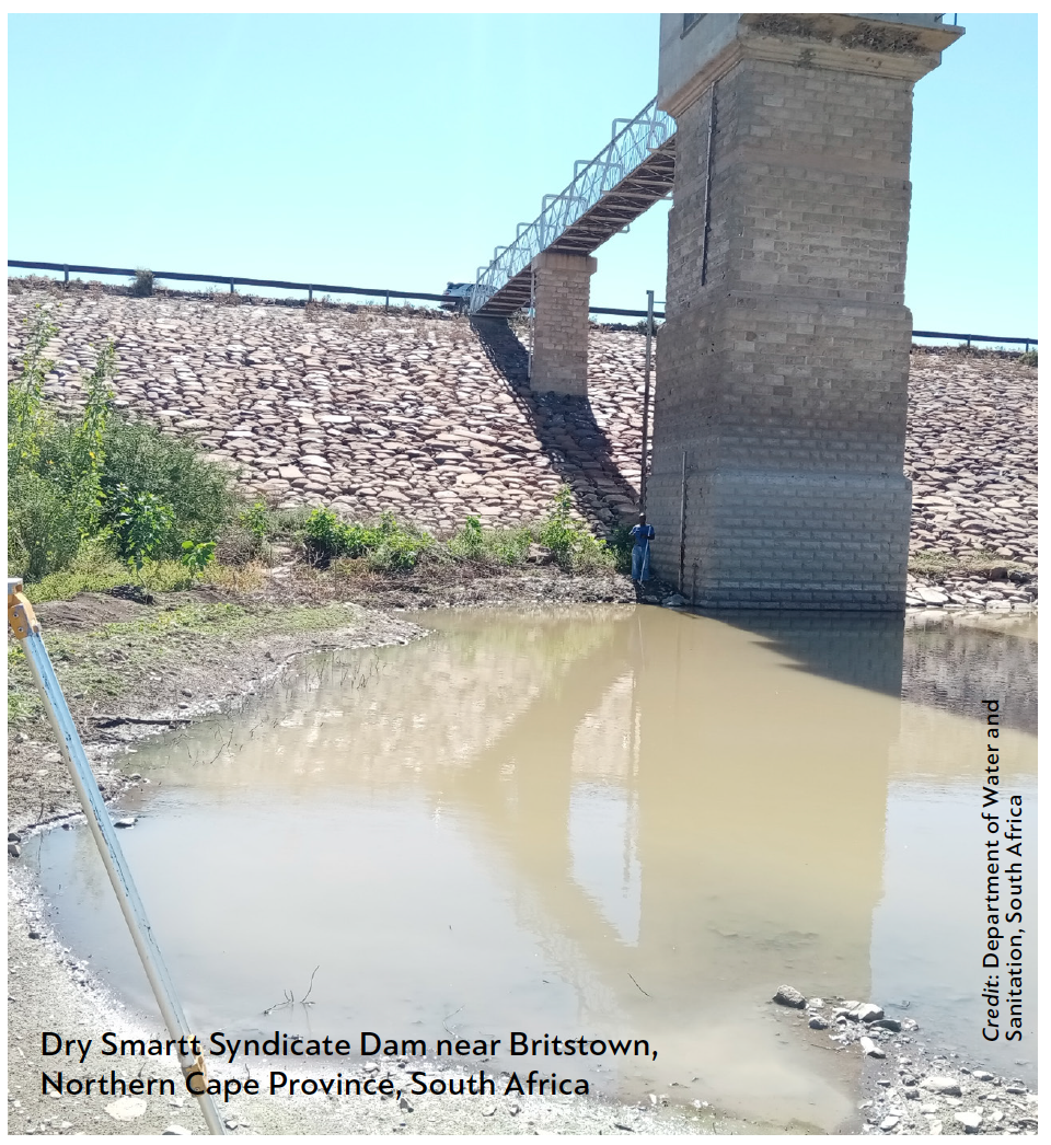 Dry Smartt Syndicate Dam near Britstown Northern Cape Province, South Africa