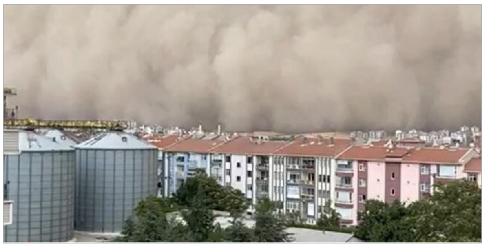 Dust storm in Polatlı, Ankara