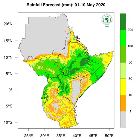 Heavy rainfall causes floods in East Africa, May 2020