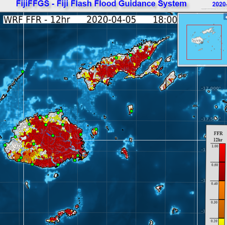 Fiji flash flood guidance system