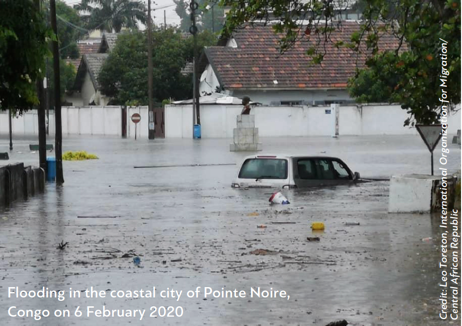 Flooding in the coastal city of Pointe Noire, Congo