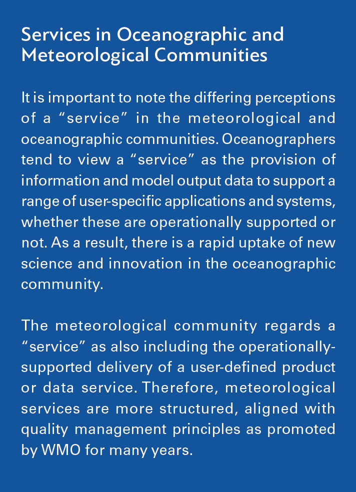 Services in Oceanographic and Meteorological Communities