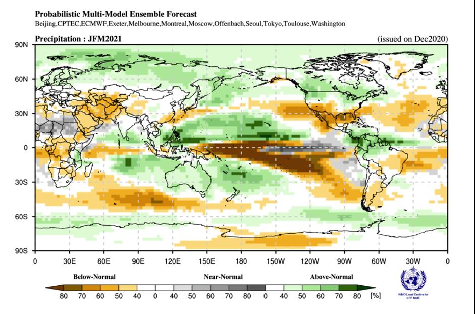 WMO Global Seasonal Climate Update, issued December 2020
