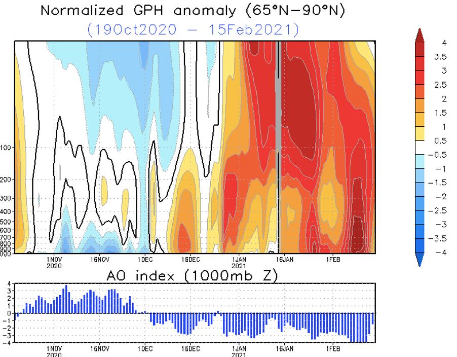 Arctic Oscillation 2021