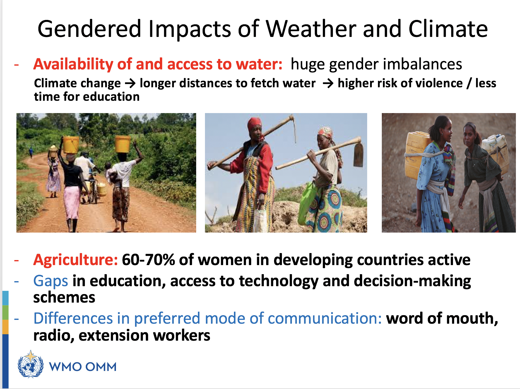 Gender senstive weather and climate services