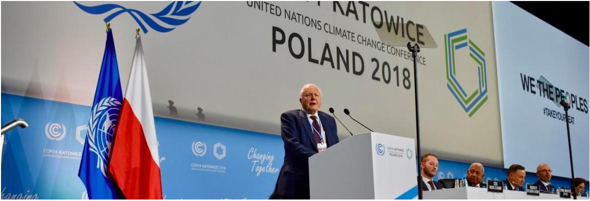 Sir David Attenborough launches climate action campaign. Photo UNFCCC