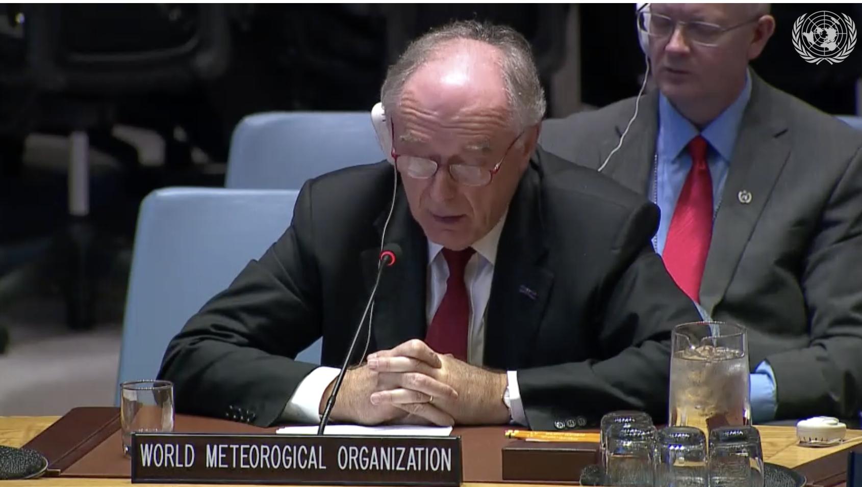 WMO chief scientist Pavel Kabat addresses UN Security Council 25.1.2019