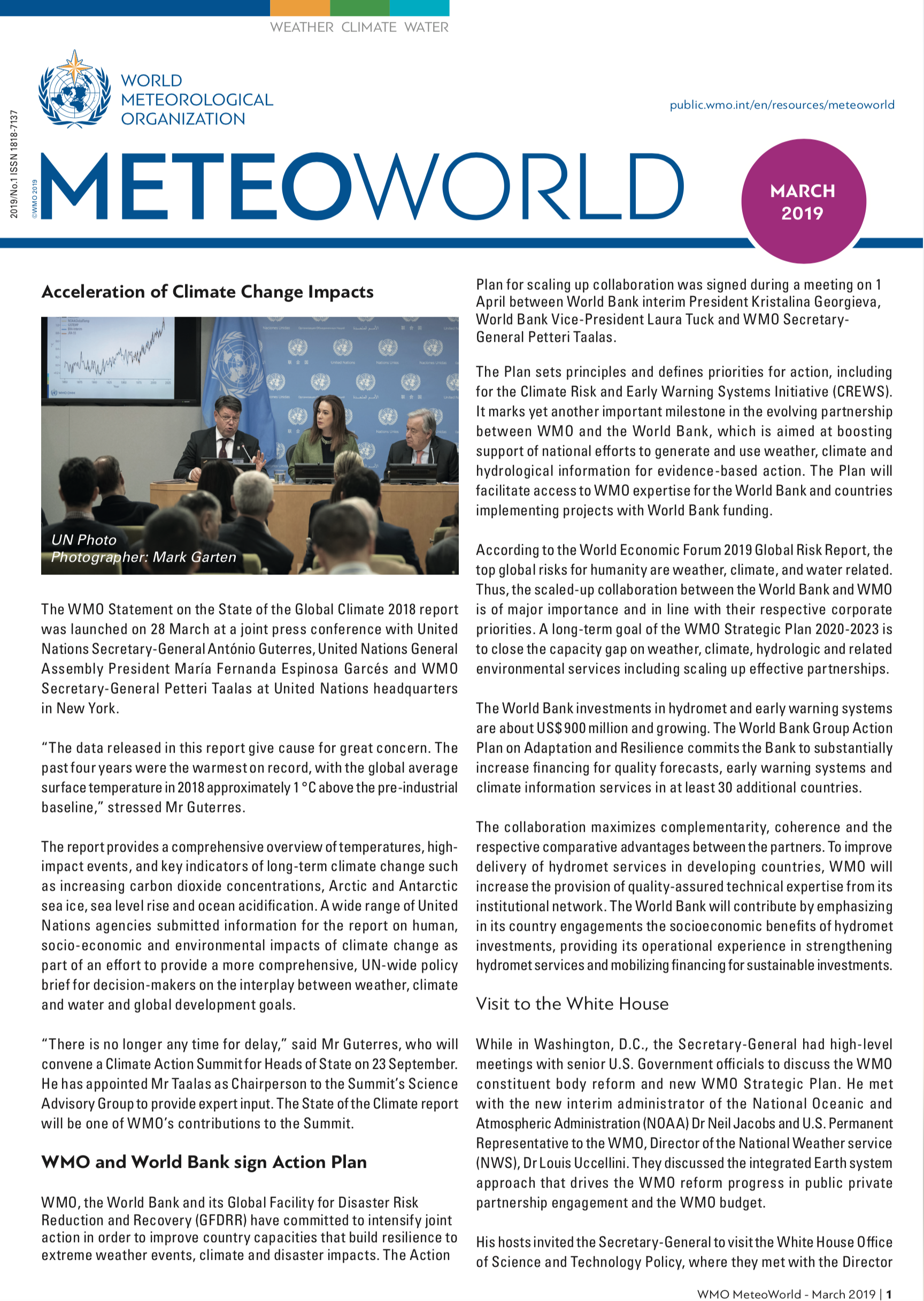 MeteoWorld No. 1 March 2019