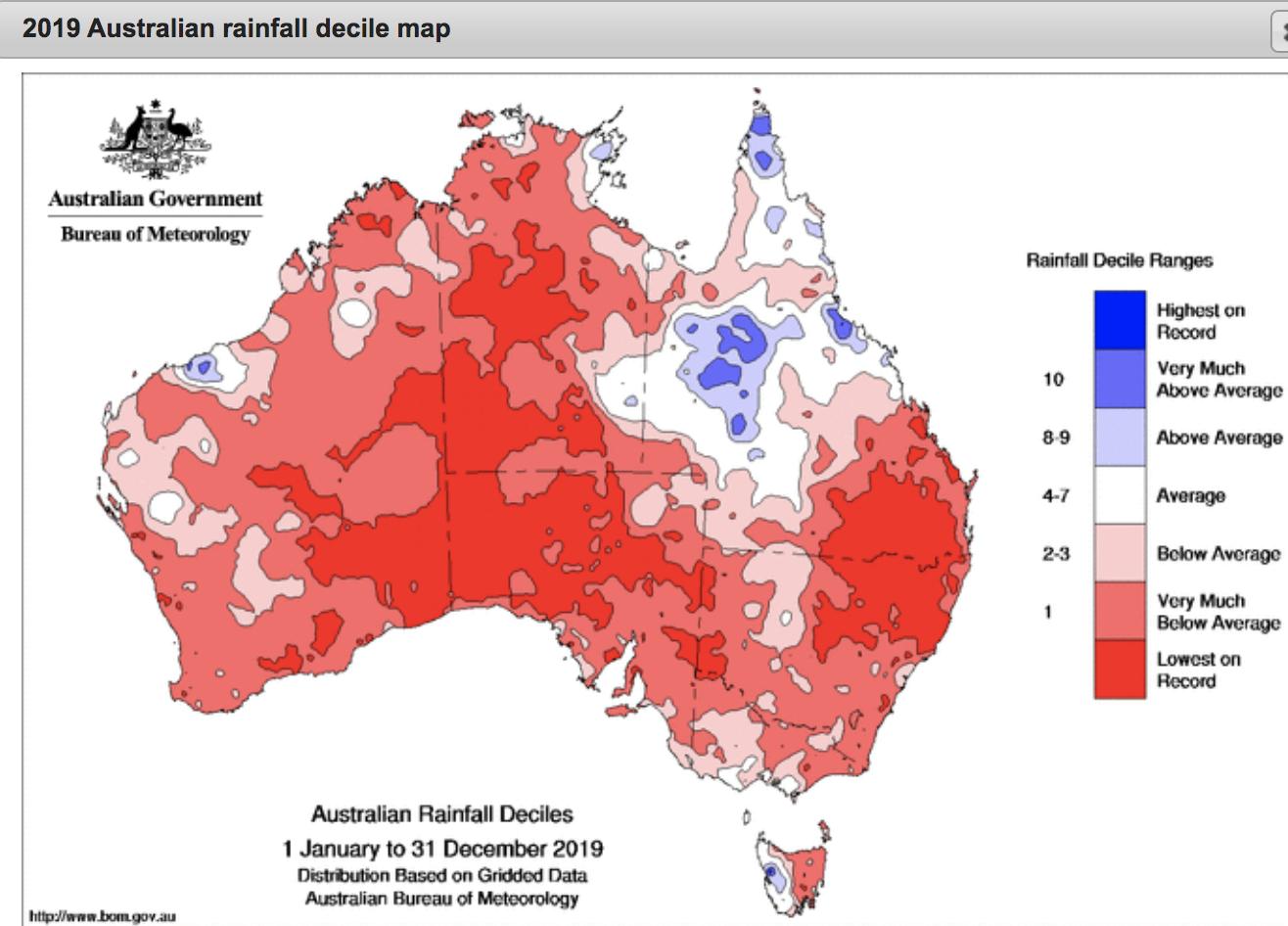 Australia rainfall 2019