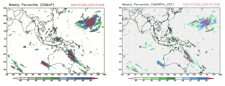 Figure 5. JAXA GSMaP and CPC / NOAA CMORPH