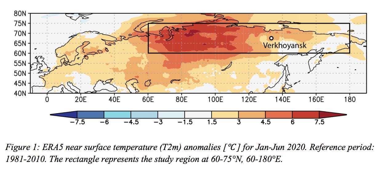Onda de calor na Sibéria 2020