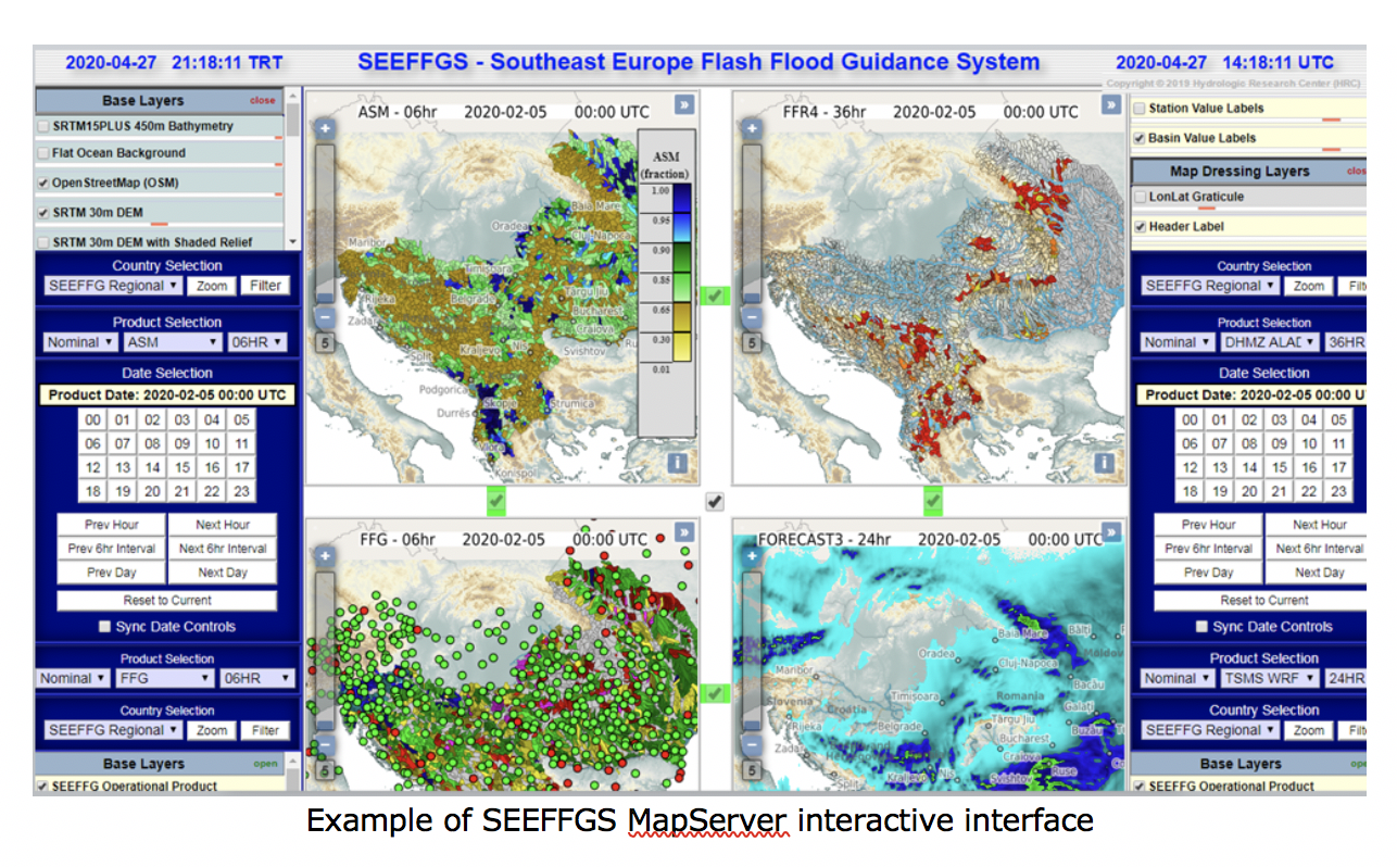 SEEFFGS MapServer interactive interface