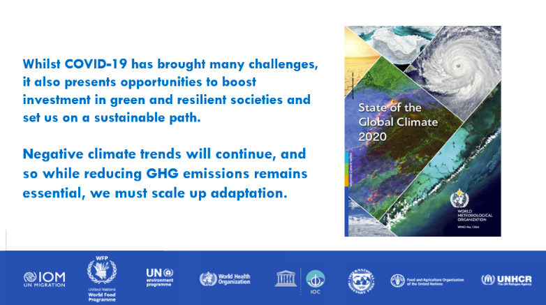 State of the Global Climate in 2020