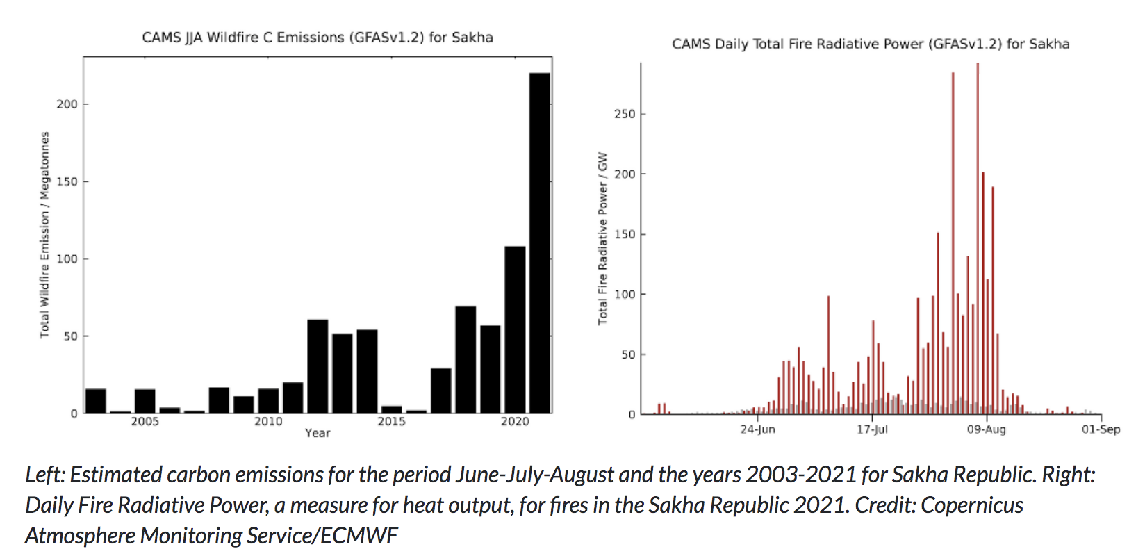 Wildfires causes record emissions