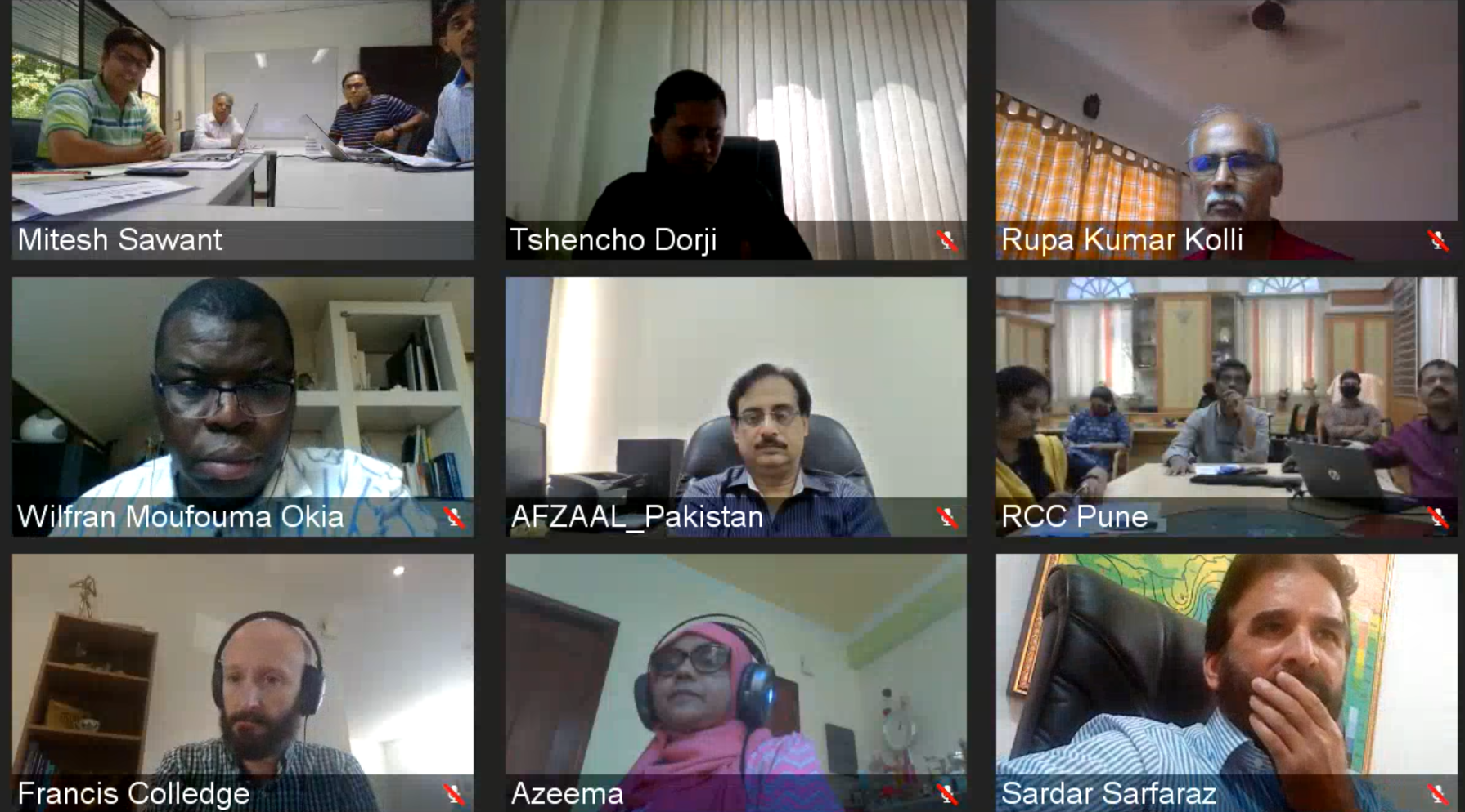 South Asian Climate Outlook Forum virtual session 2020